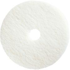 27 Diameter Impact BURN27S Microfiber High Speed Burnishing Pad Case of 5 White