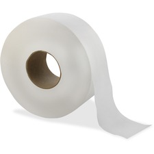 "Livi Solaris Paper Jumbo Bath Tissue - 2 Ply - 3.30"" x 1000 ft - White - Virgin Fiber - Embossed, Eco-friendly, Soft, Durable, Absorbent - For Bathroom - 12 / Carton"