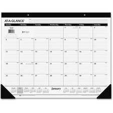 AAG SK240017 At-A-Glance Classic Monthly Desk Pad AAGSK240017