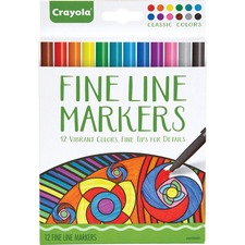 CYO 587713 Crayola Classic Colors Fine Line Markers Set CYO587713