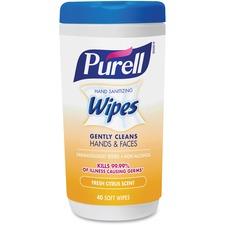 GOJ 912206CMR GOJO Purell Citrus Scent Hand Sanitizing Wipes GOJ912206CMR