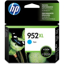 HP 952XL (L0S61AN) Original Ink Cartridge - Inkjet - High Yield - 1600 Pages - Cyan - 1 Each