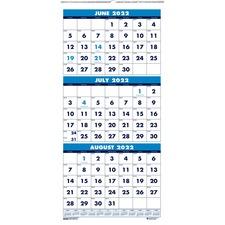 HOD 3645 Doolittle Three-month Horizontal Wall Calendar HOD3645