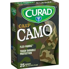 MII CUR45701RB Medline Curad Green Camp Camo Sterile Bandages MIICUR45701RB