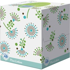 Puffs Plus Lotion Facial Tissues - 2 Ply - White - Soft, Strong - For Face, Skin, Multipurpose - 56 Quantity Per Box - 4 / Pack