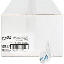 Genuine Joe Non-para Rim Hanger - Green Apple - Lasts upto 30 Day - Non-para Deodorizer, Acid-free, Deodorizer - 72 / Carton - Blue