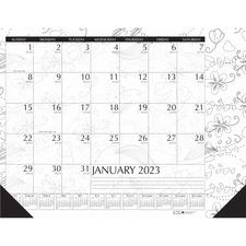 HOD 187 Doolittle Doodle Monthly Desk Pad HOD187