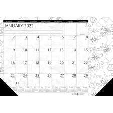 HOD 1876 Doolittle Doodle Monthly Desk Pad HOD1876