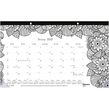 RED C2917001 Rediform Botanica Design Monthly Doodle Desk Pad REDC2917001