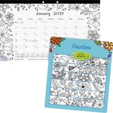 RED C2917003 Rediform Garden Design Monthly Desk Pad REDC2917003