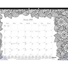RED C2917211 Rediform Botanica Design Monthly Desk Pad REDC2917211