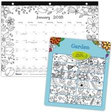 RED C2917213 Rediform Garden Design Monthly Desk Pad REDC2917213