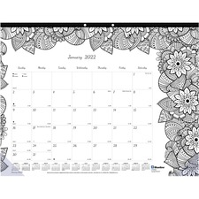 RED C2917311 Rediform Botanica Design Monthly Doodle Desk Pad REDC2917311