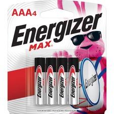 EVE E92BP4CT Energizer Max Alkaline AAA Batteries EVEE92BP4CT