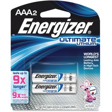 EVE L92BP2CT Energizer Ultimate Lithium AAA Batteries EVEL92BP2CT