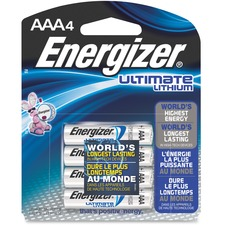 EVE L92BP4CT Energizer Ultimate Lithium AAA Batteries EVEL92BP4CT