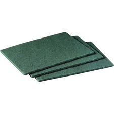 """Scotch-Brite -Brite Scrubbing Pads - 6"""" Width x 9"""" Depth - 60/Carton - Synthetic - Green"""