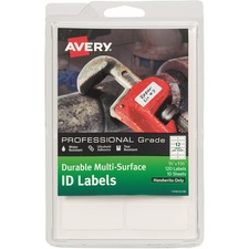 AVE 61521 Avery Professional Grade Durable ID Labels AVE61521