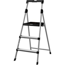 DAD BXL226003S Louisville Ladders 3' Steel Step Stool w/Slots DADBXL226003S