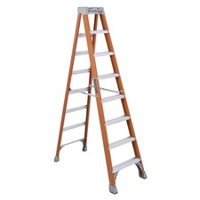 DAD FS1508 Davidson Ladders 8' Fiberglass IA Step Ladder DADFS1508