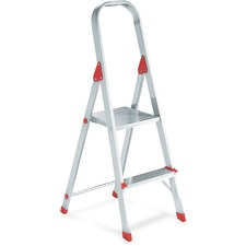 DAD L234602 Louisville Ladders 2' Aluminum Platform Step Stool DADL234602
