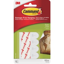 MMM 17024ES 3M Removable Command Adhesive Poster Strips MMM17024ES