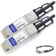 AddOn Cisco Meraki MA-CBL-40G-50CM Compatible TAA Compliant 40GBase-CU QSFP+ to QSFP+ Direct Attach Cable (Passive Twinax, 0.5m) - 100% compatible and guaranteed to work