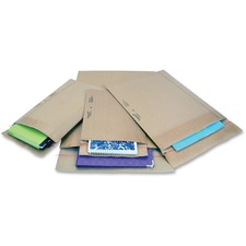 "Jiffy Mailer Padded Self-seal Mailers - Multipurpose - #2 - 8 1/2"" Width x 12"" Length - Self-sealing Flap - Kraft - 25 / Carton - Natural Kraft, Satin Gold"