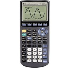 Texas Instruments TI-83 Plus Graphing Calculator - Impact Resistant Cover, Battery Backup - 160 KB, 24 KB - ROM, RAM - 8 Line(s) - 16 Digits - Battery Powered - 4 - AAA