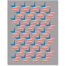 TCR 4210 Teacher Created Res. Flag Stars Foil Stickers TCR4210