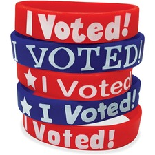 TCR 6576 Teacher Created Res. I Voted Message Wristbands TCR6576