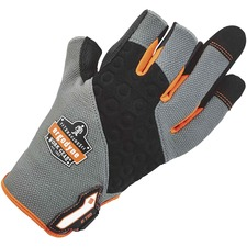 ProFlex 720 Heavy-duty Framing Gloves - 9 Size Number - Large Size - Neoprene Knuckle, Poly - Black, Gray - Heavy Duty, Padded Palm, Reinforced Palm Pad, Reinforced Fingertip, Reinforced Saddle, Hook & Loop Closure, Pull-on Tab, Abrasion Resistant, Machine Washable, Comfortable, Rugged - For Roofing, Construction, Carpentry, Equipment Operation, Tools, Mechanical Work - 1 / Pair