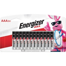 Energizer Max Alkaline AAA Batteries - AAA - Alkaline Manganese Dioxide - 1.5 V DC - 24 / Pack