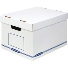 """Bankers Box Organizers X-Large 12/ctn - External Dimensions: 12.8"""" Width x 16.5"""" Depth x 10.5"""" Height - Medium Duty - Single/Double Wall - Stackable - White, Blue - For Storage - Recycled - 12 / Carton"""