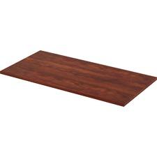 LLR 59637 Lorell Quadro Wkstn Cherry Lam. Str Edge Tabletop LLR59637