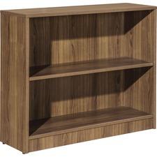 LLR 99780 Lorell Walnut Laminate Bookcase LLR99780
