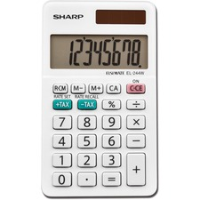 SHR EL244WB Sharp 8-Digit Pocket Calculator SHREL244WB