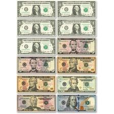 ASH 10066 Ashley Prod. US Dollar Bill Set Die-cut Magnets ASH10066