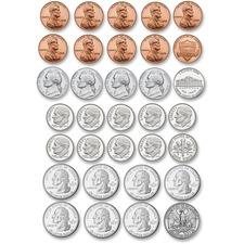 ASH 10067 Ashley Prod. US Coin Money Set Die-cut Magnets ASH10067