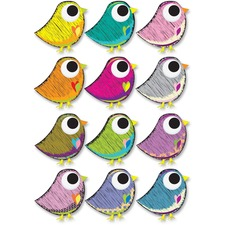ASH 10084 Ashley Prod. Scribble Bird Design Dry Erase Magnet ASH10084
