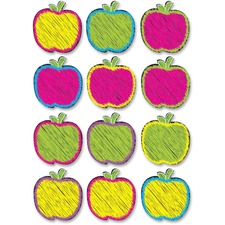 ASH 10085 Ashley Prod. Scribble Apple Design DryErase Magnet ASH10085