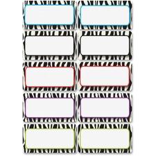 ASH 10116 Ashley Prod. Zebra Print DryErase Nameplate Magnet ASH10116
