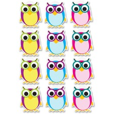 ASH 10142 Ashley Prod. Dry Erase Owl Magnets ASH10142
