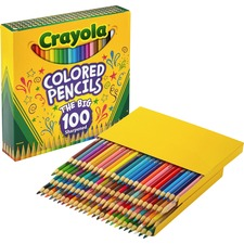 PENCILS,COLORED,100CT,AST