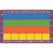 FCI FE34456A Flagship Carpets Primary Colors Square Grids Rug FCIFE34456A