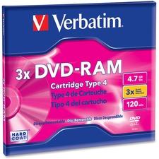 VER 95002 Verbatim 3x DVD-RAM Type 4 Cartridge VER95002