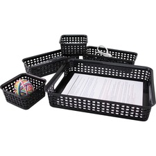 AVT 37530 Advantus Plastic Weave Storage Bin Set AVT37530
