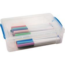 AVT 37539 Advantus Clear Large Pencil Box AVT37539