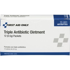 FAO 12001 First Aid Only Triple Antibiotic Ointment Packets FAO12001