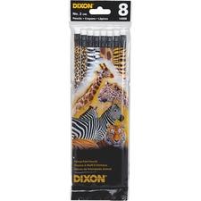 DIX 14008 Dixon No. 2 Animal Print Pencils DIX14008